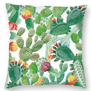 "Cactus Pillow Cover Decorative 18x18"""
